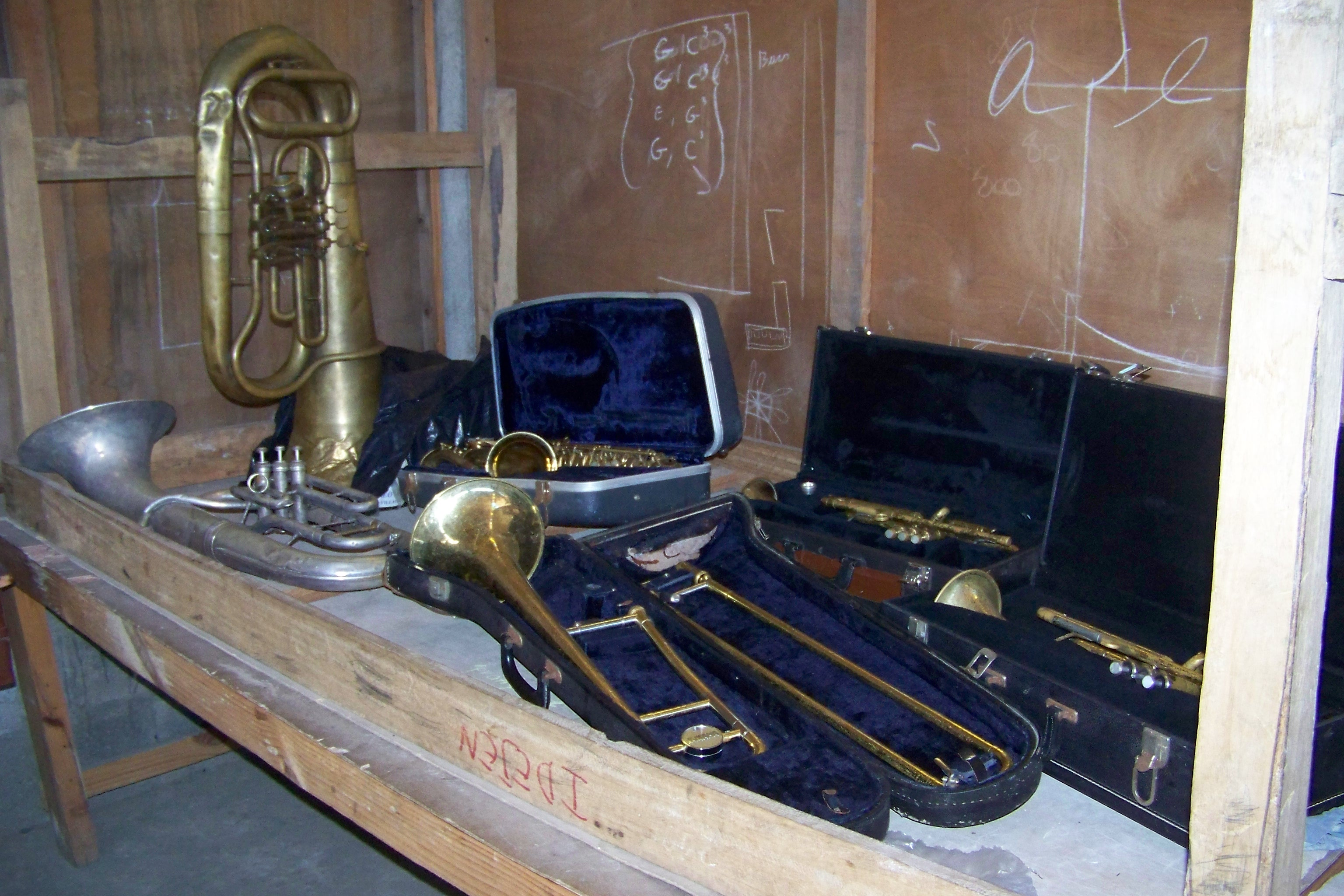 instruments donated by Friend of Borgne